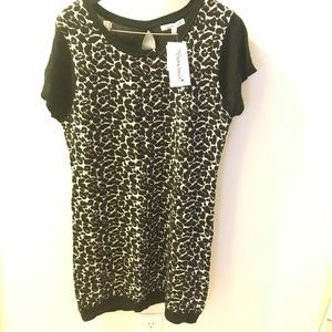 Black Sweater Knit Dress Size 1X NWT
